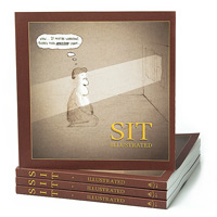 Sit illustrated - meditation Cartoon Book